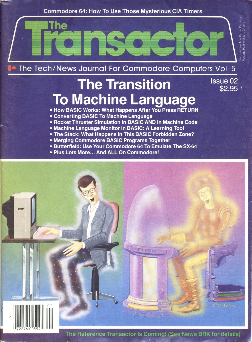 [Cover Page of The Transactor Volume 5, Issue 2: The Transition To Machine Language]