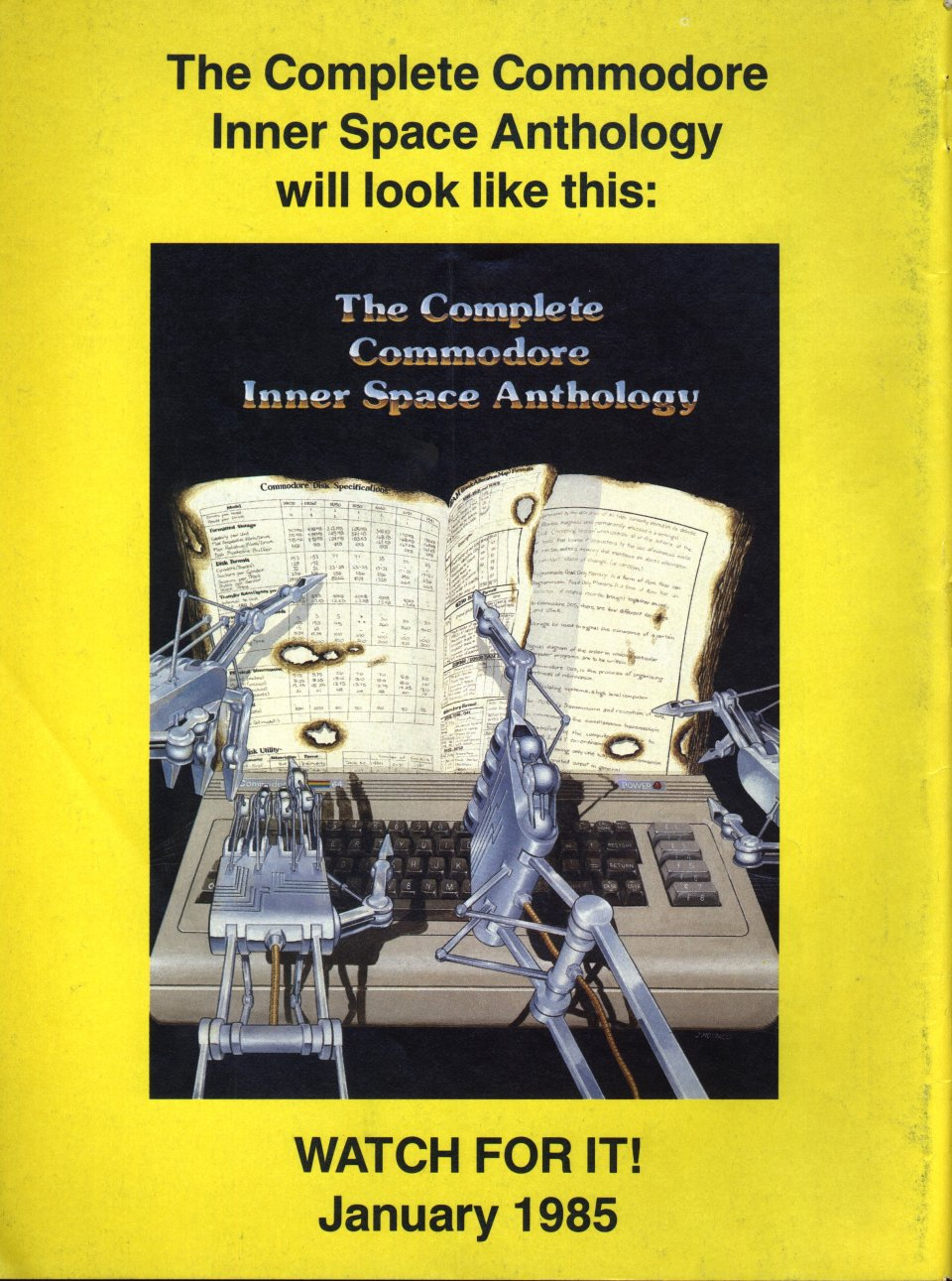 [Advertisement: The Complete Commodore Inner Space Anthology]
