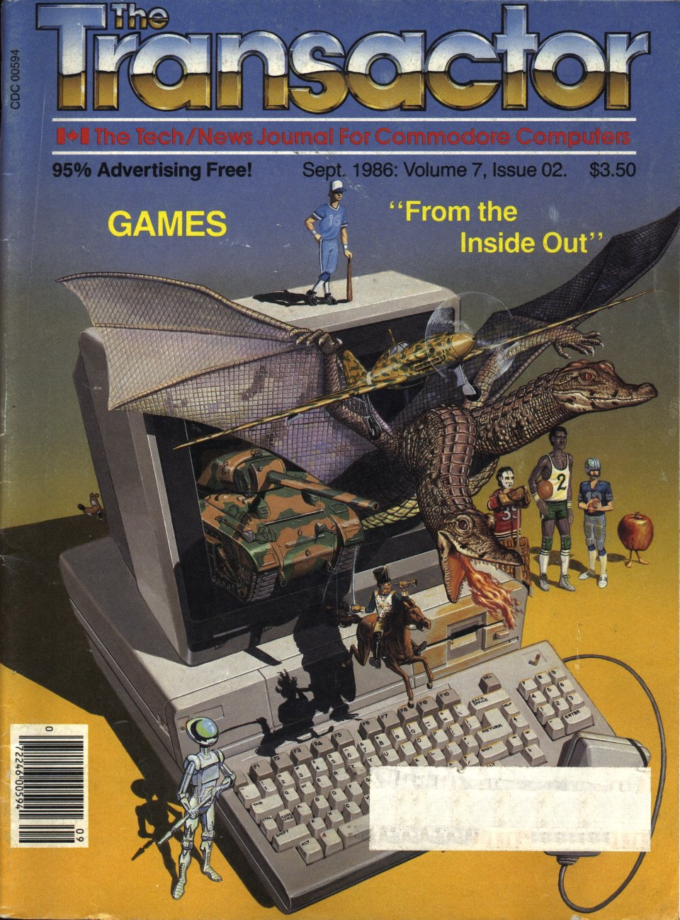 "[Cover Page of The Transactor Volume 7, Issue 2: Games ""From the Inside Out""]"