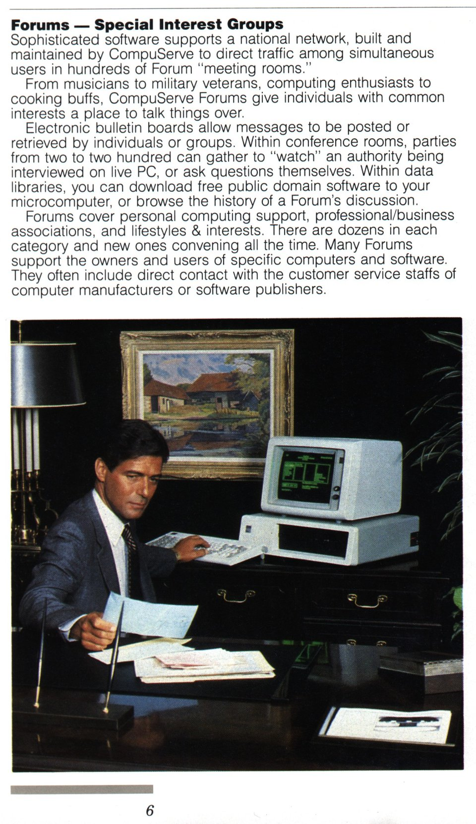 [CompuServe IntroPak page 6/44  Forums - Special Interest Groups]