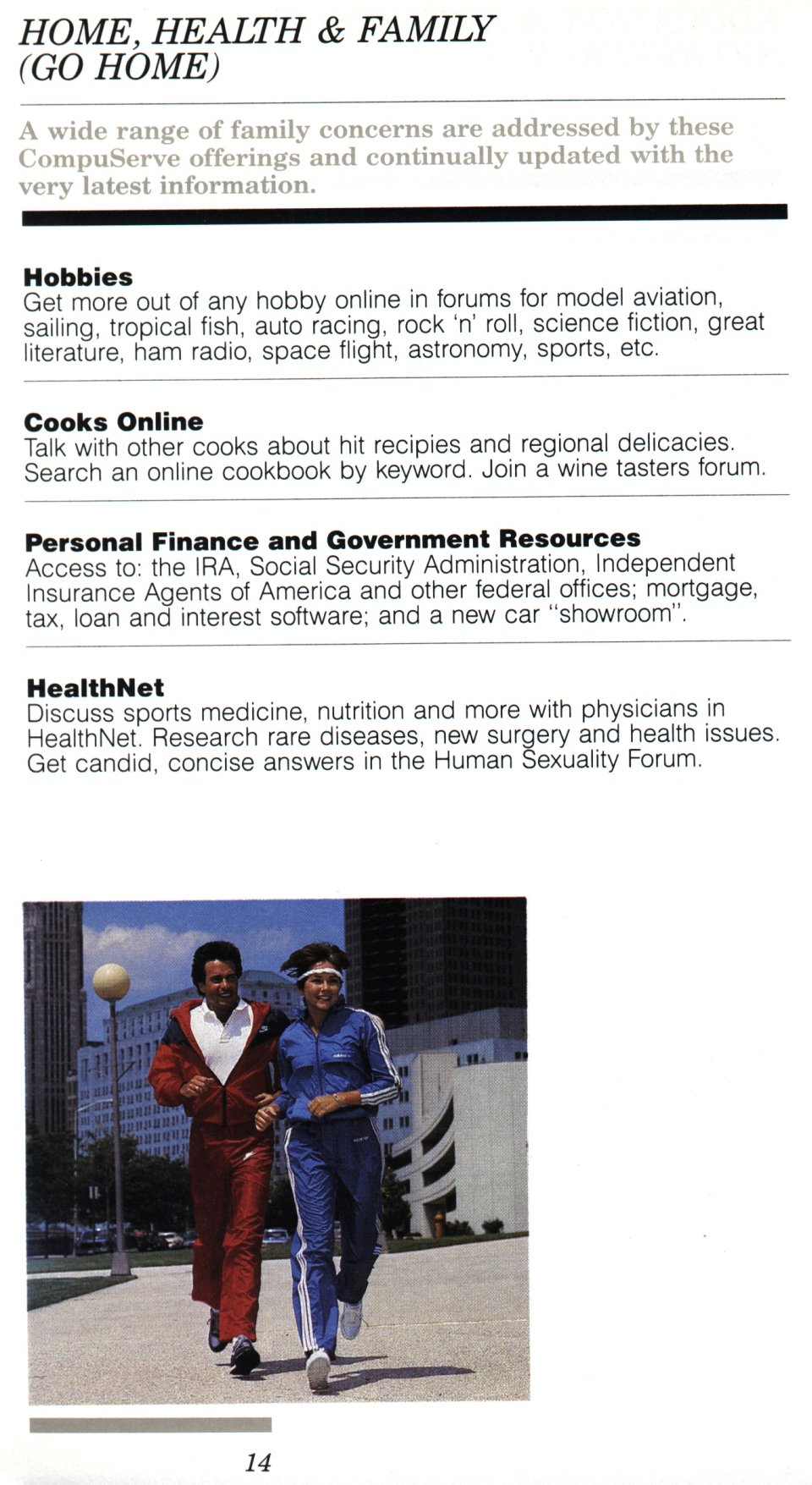 [CompuServe IntroPak page 14/44  Home, Health & Family (GO HOME)]