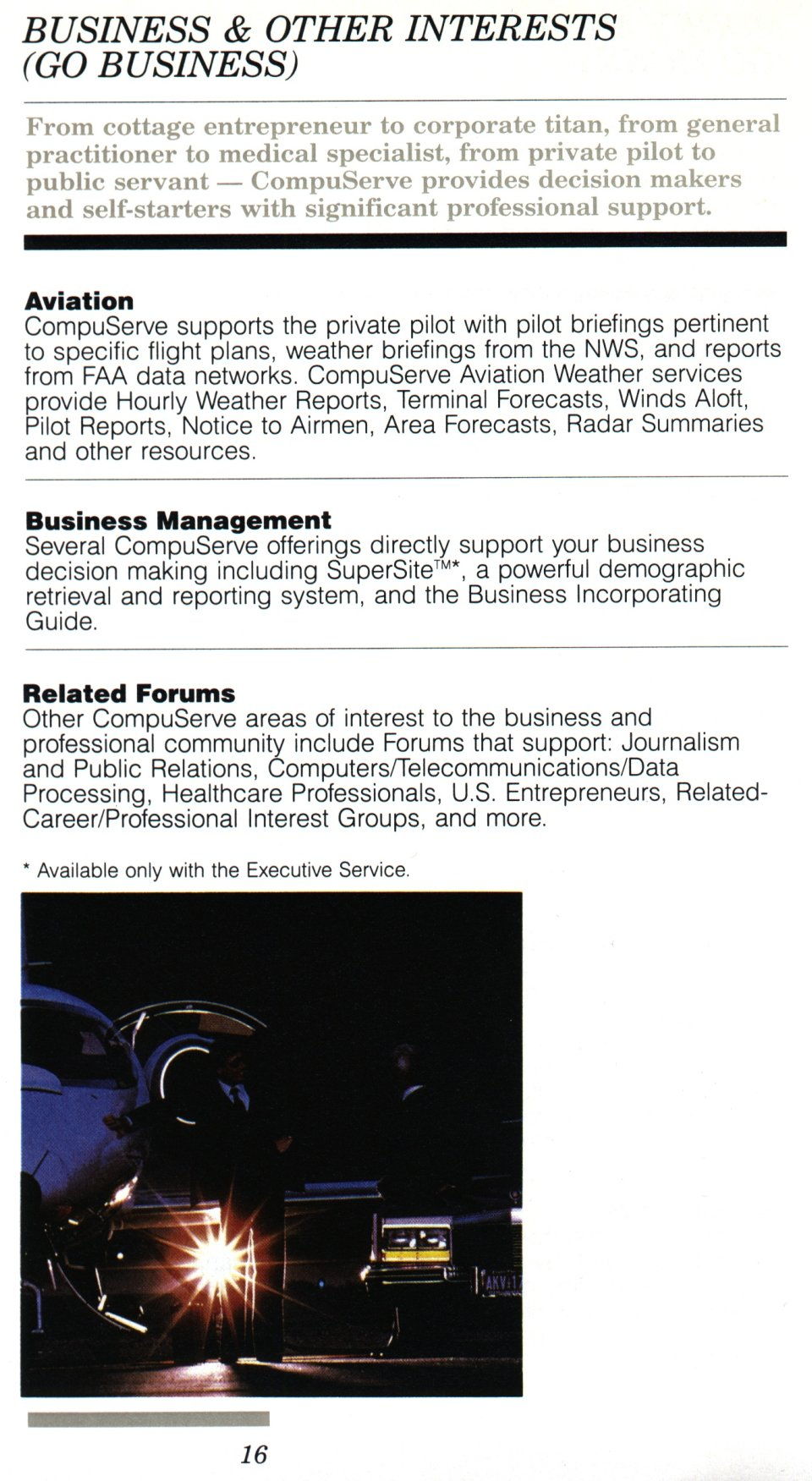 [CompuServe IntroPak page 16/44  Business & Other Interests (GO BUSINESS)]