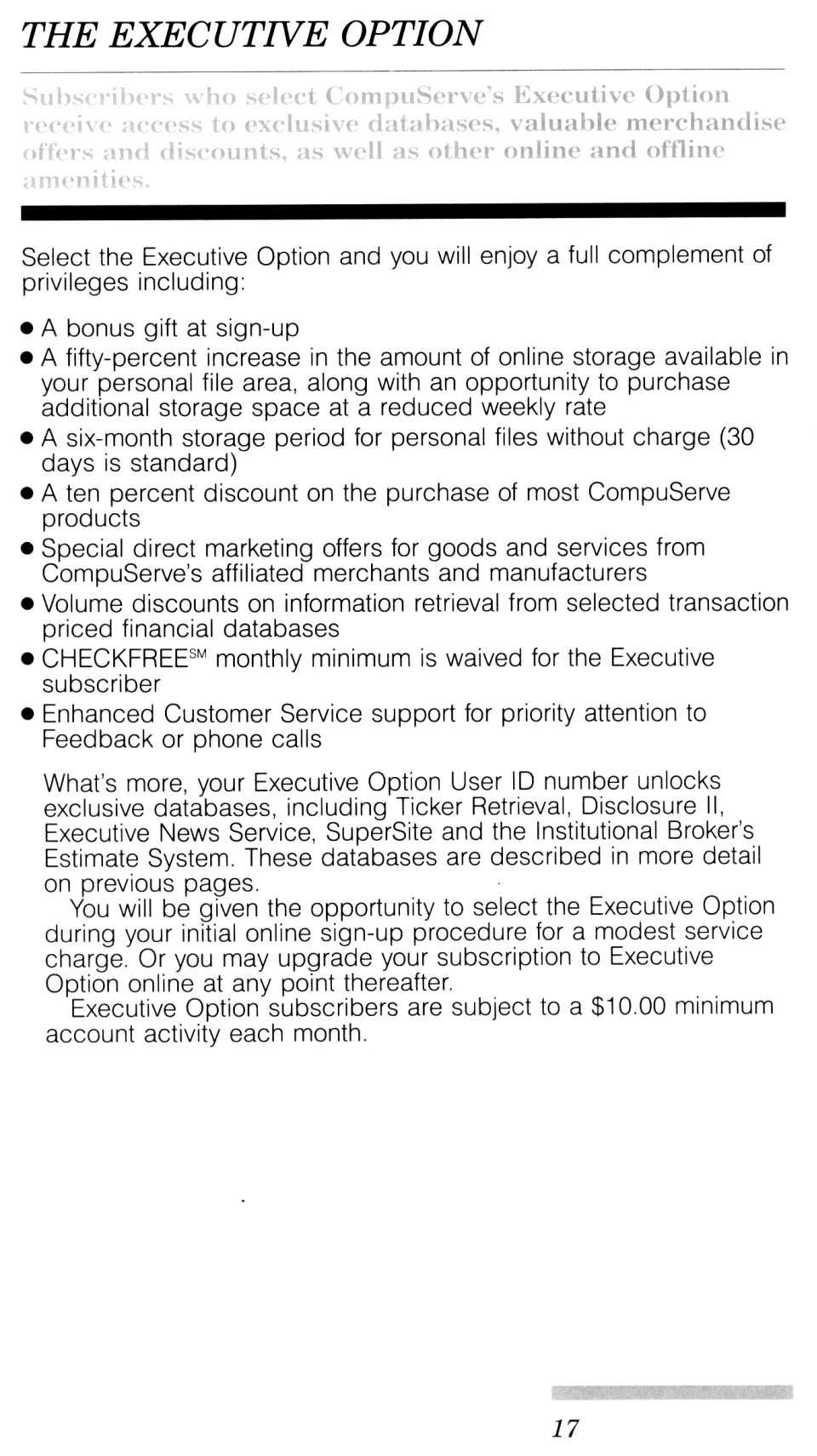[CompuServe IntroPak page 17/44  The Executive Option]