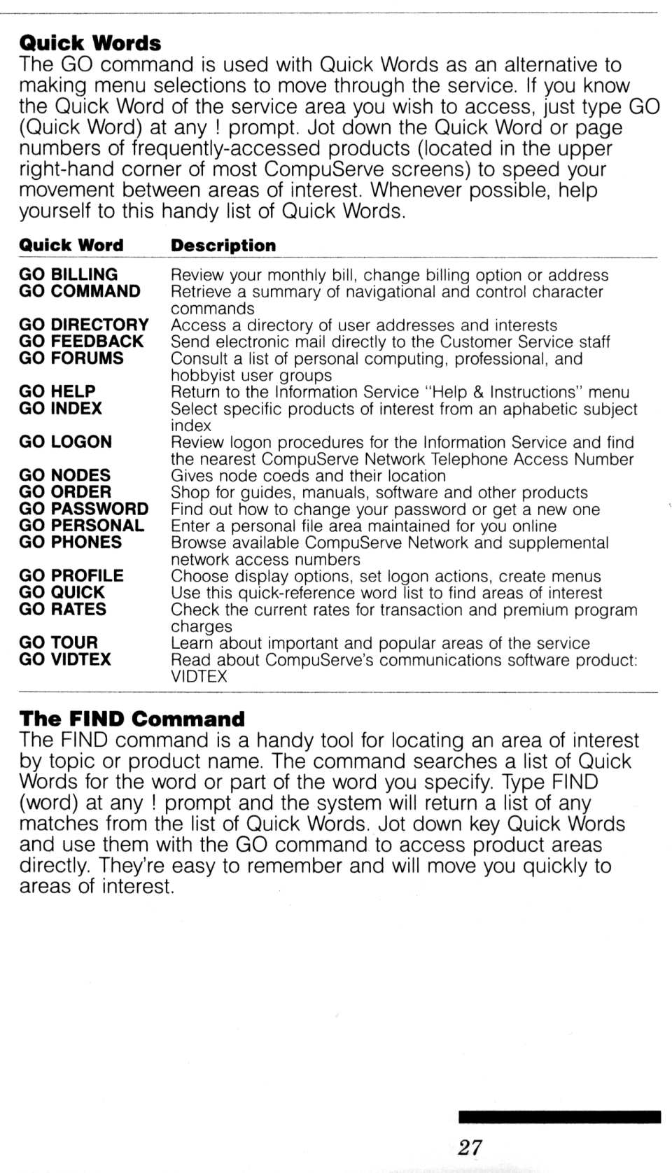 [CompuServe IntroPak page 27/44  Quick Words]
