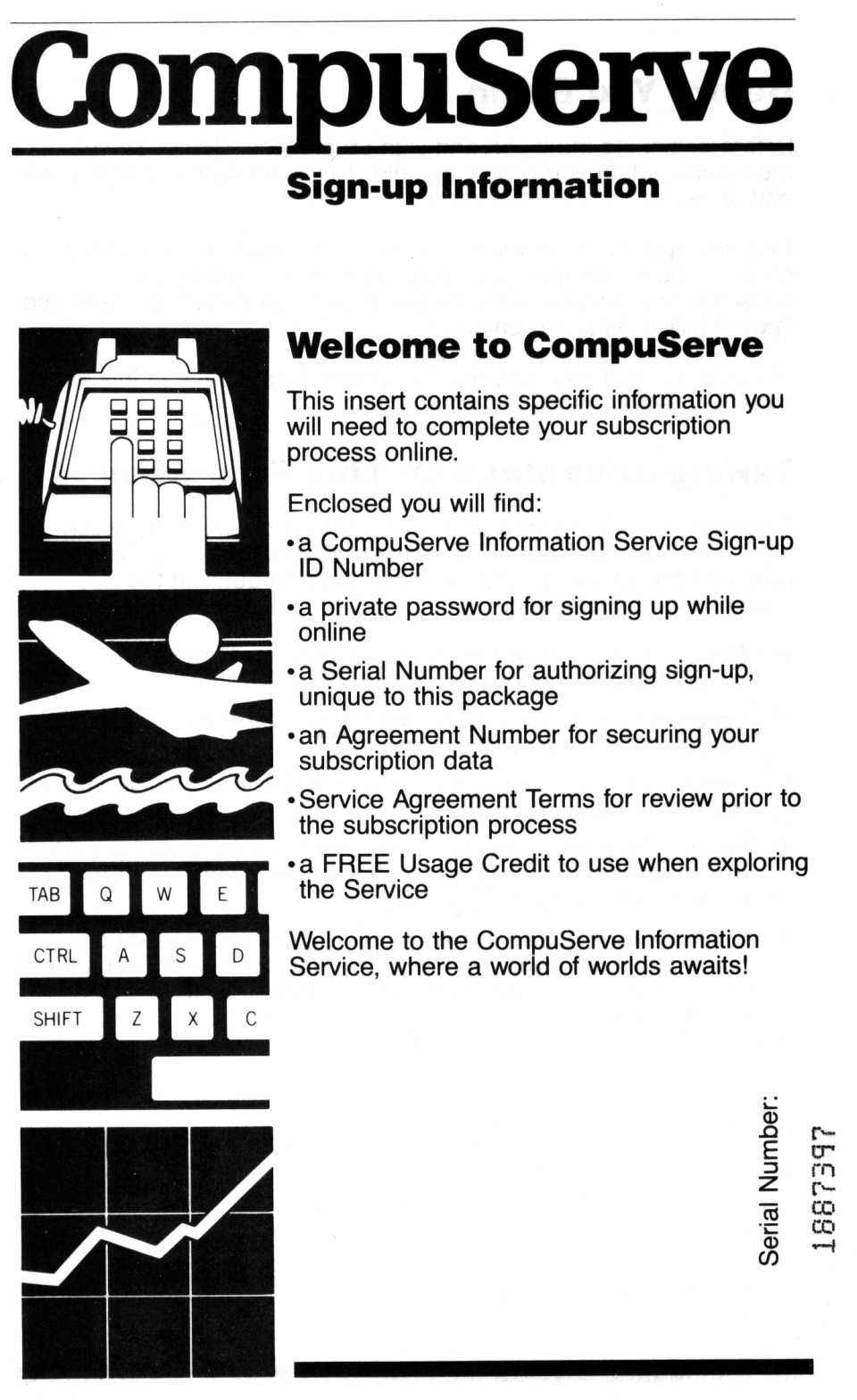[CompuServe Sign-up Information (1/4)]