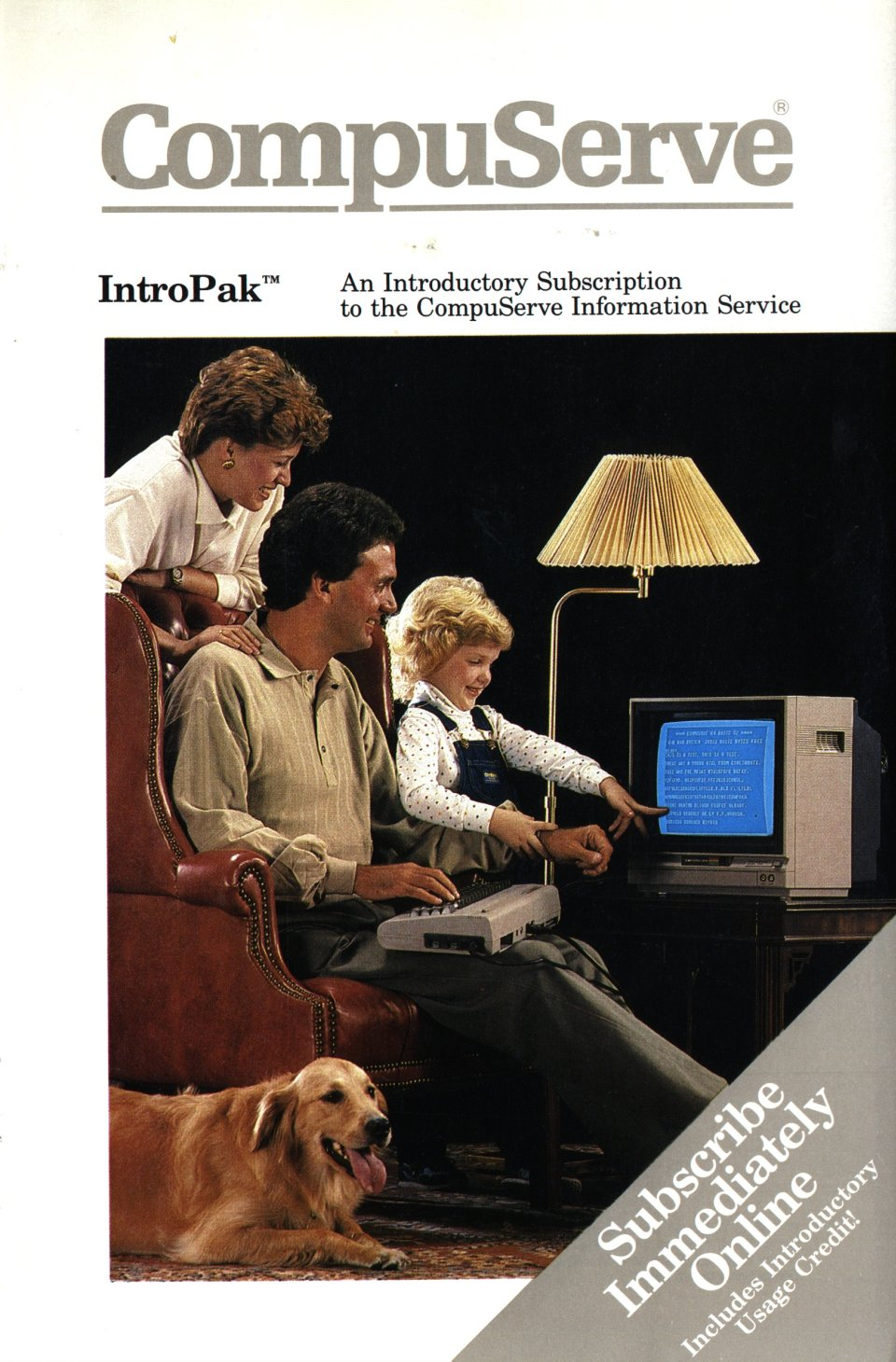 [CompuServe IntroPak front cover (1/2)]