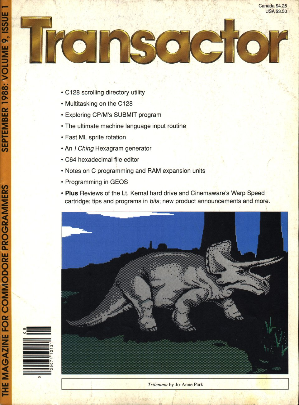 [Cover Page of The Transactor Volume 9, Issue 1]