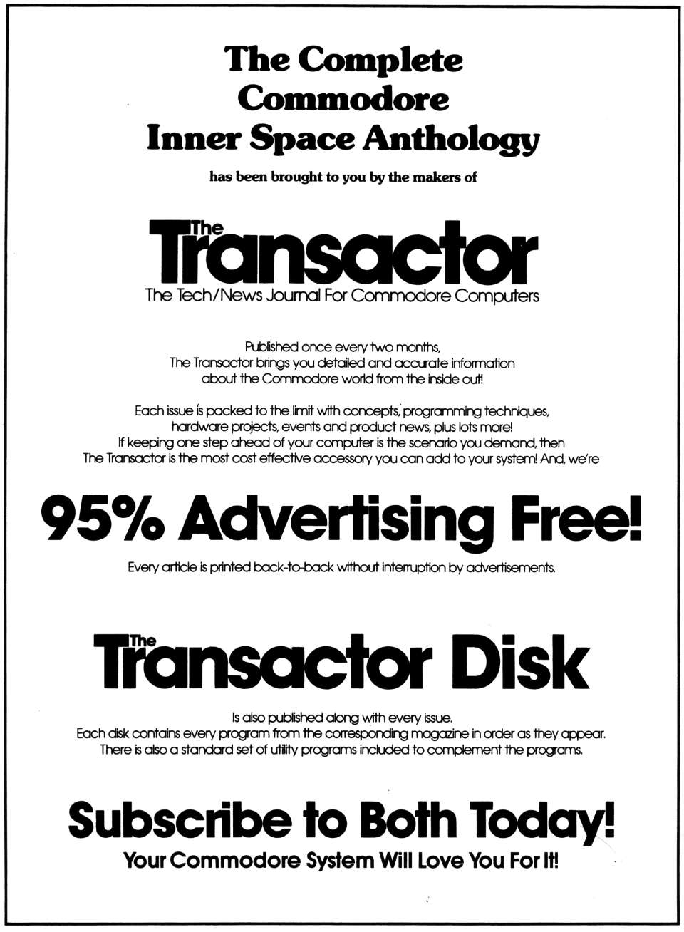 [960�1308 Advertisement for The Transactor and The Transactor Disk]