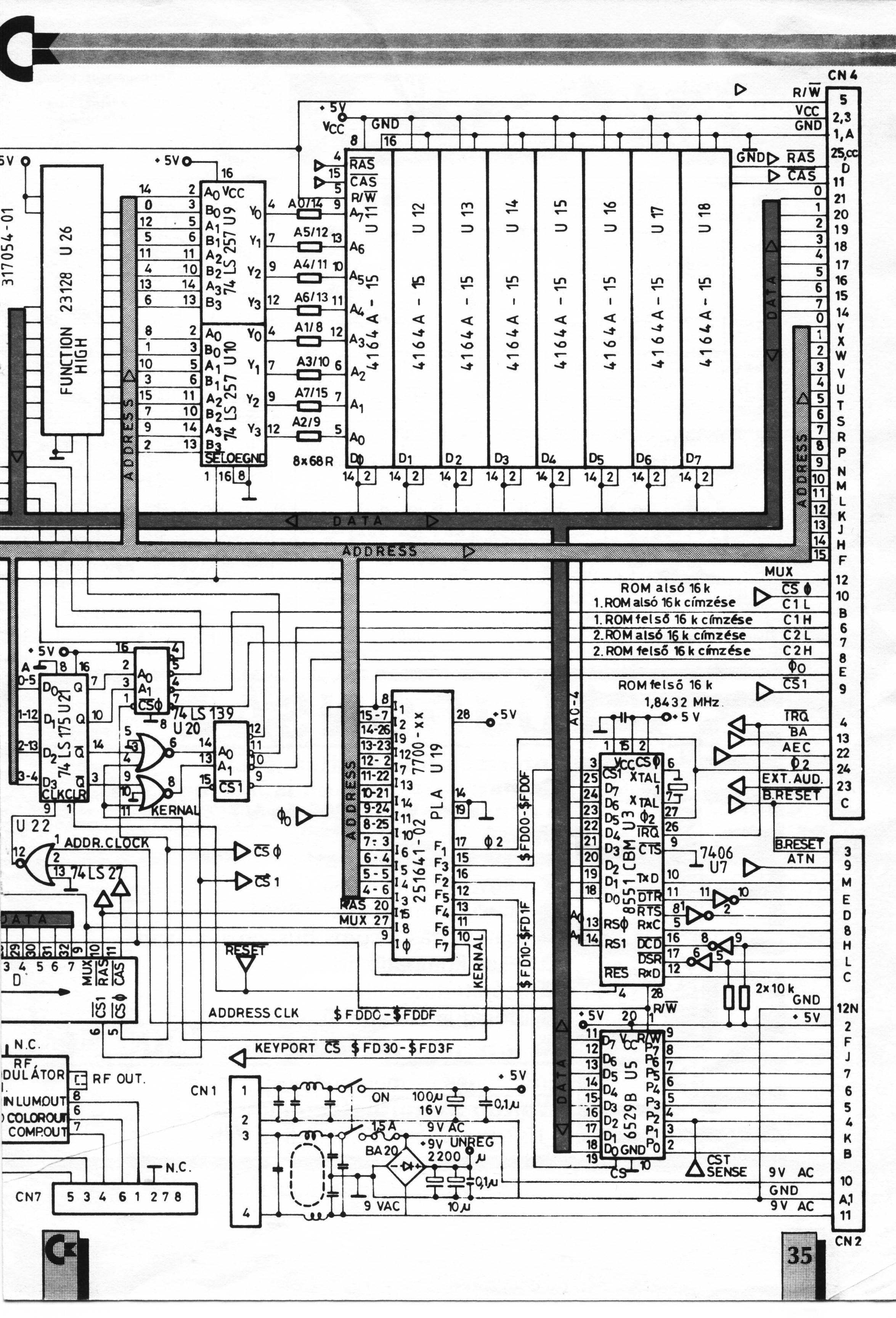 pub cbm schematics computers plus4